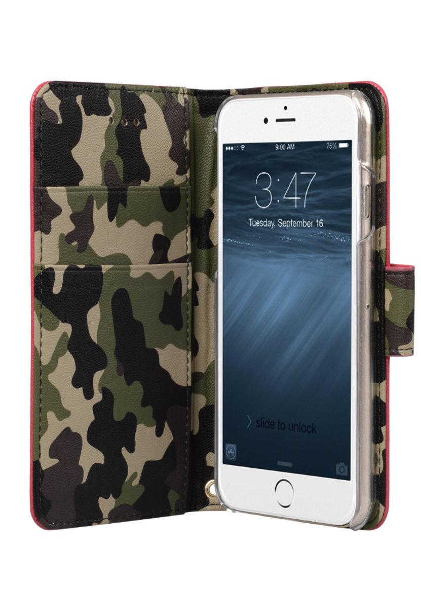 Kuboq日本迷彩風格iPhone 6s / 6 PU手機套 (紅色/迷彩)