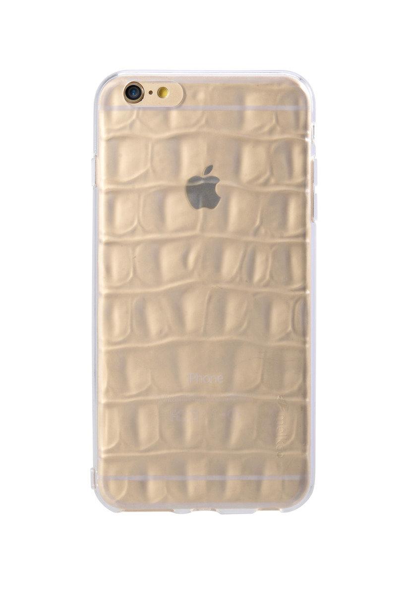 "iPhone 6 Plus/6S Plus (5.5"") 鱷魚皮紋手機套 - 透明色(附送屏幕保護貼)"
