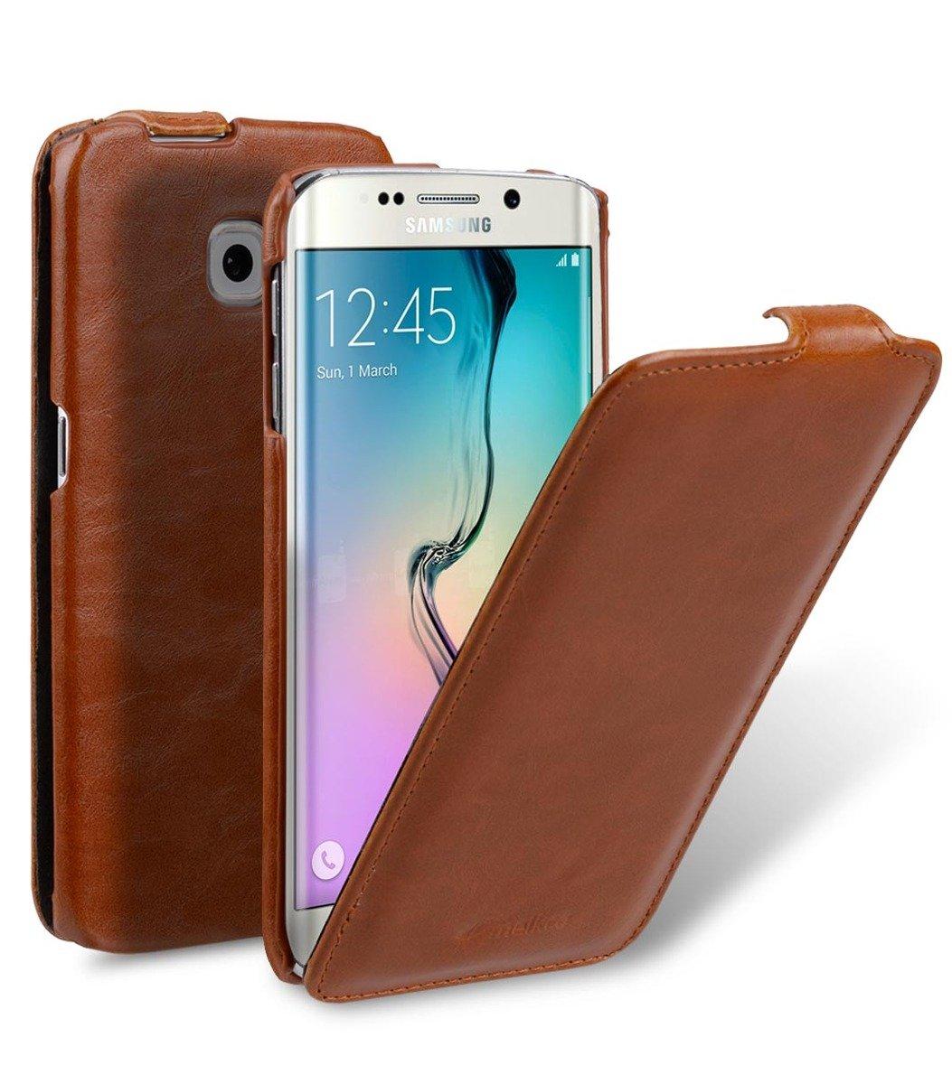 Samsung Galaxy S6 Edge Jacka Type 人造皮手機套 - 啡色