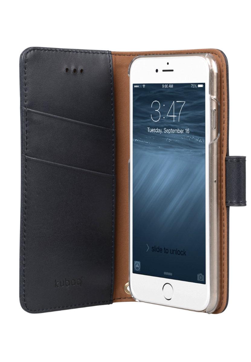 日本Kuboq意大利風格iPhone 6s Plus / 6 Plus手機皮套 (深藍色)