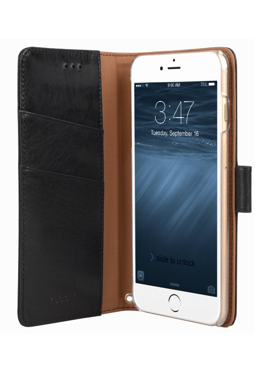 日本Kuboq意大利風格iPhone 6s Plus / 6 Plus手機皮套 (黑色)
