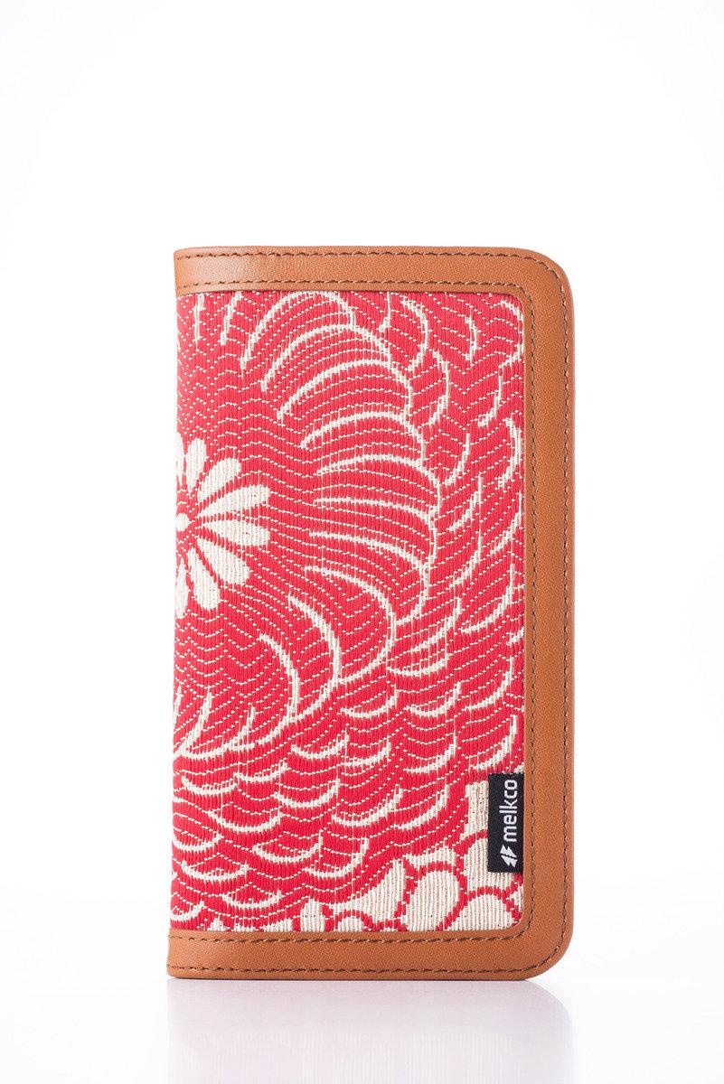 Apple iPhone 6s/6 Prestige Collection Heritage系列高級皮革手機皮套-啡色/紅色提花圖