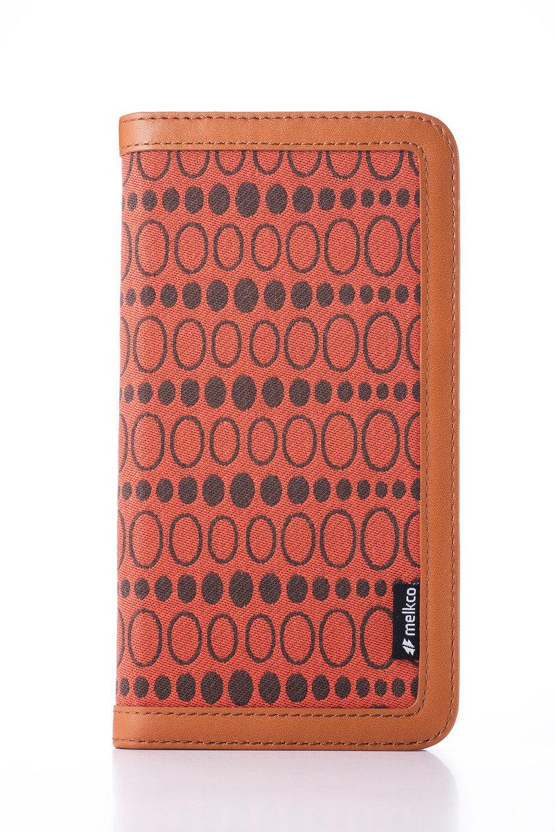 Apple iPhone 6s Plus/6 Plus Prestige Collection Heritage系列高級皮革手機皮套啡色/橙色斑點圖