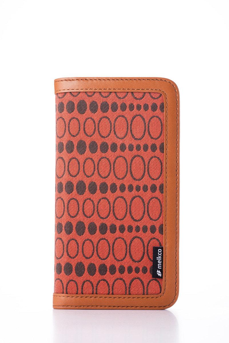 Apple iPhone 6s/6 Prestige Collection Heritage系列高級皮革手機皮套-啡色/橙色斑點圖