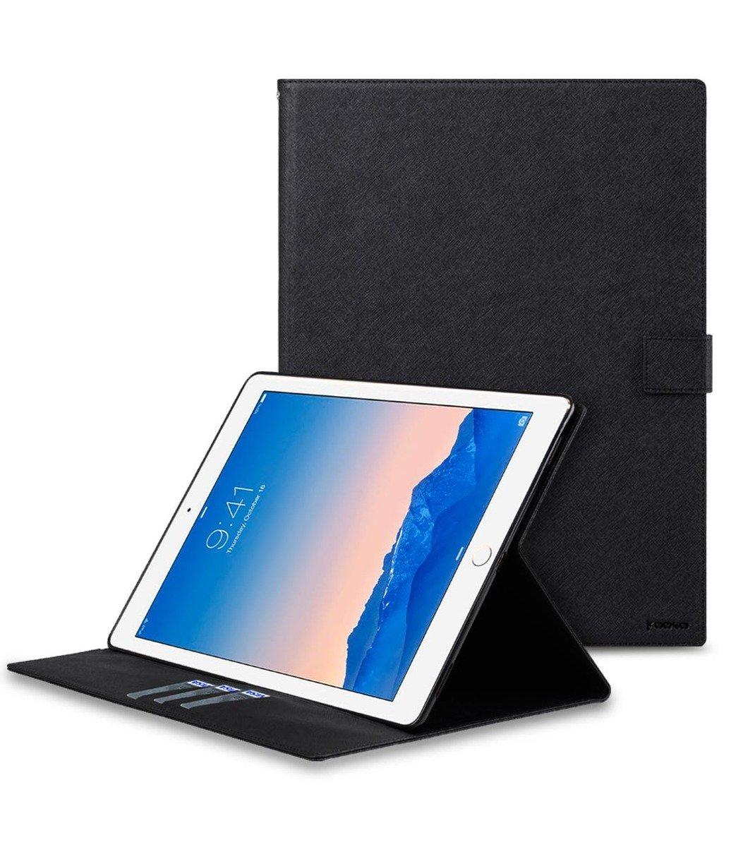 韓國 Kooso Apple iPad Pro 保護套 (黑色十字紋PU)