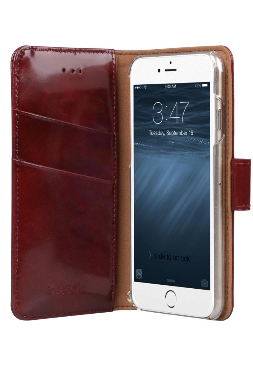 日本Kuboq意大利風格iPhone 6s Plus / 6 Plus手機皮套 (紅色)