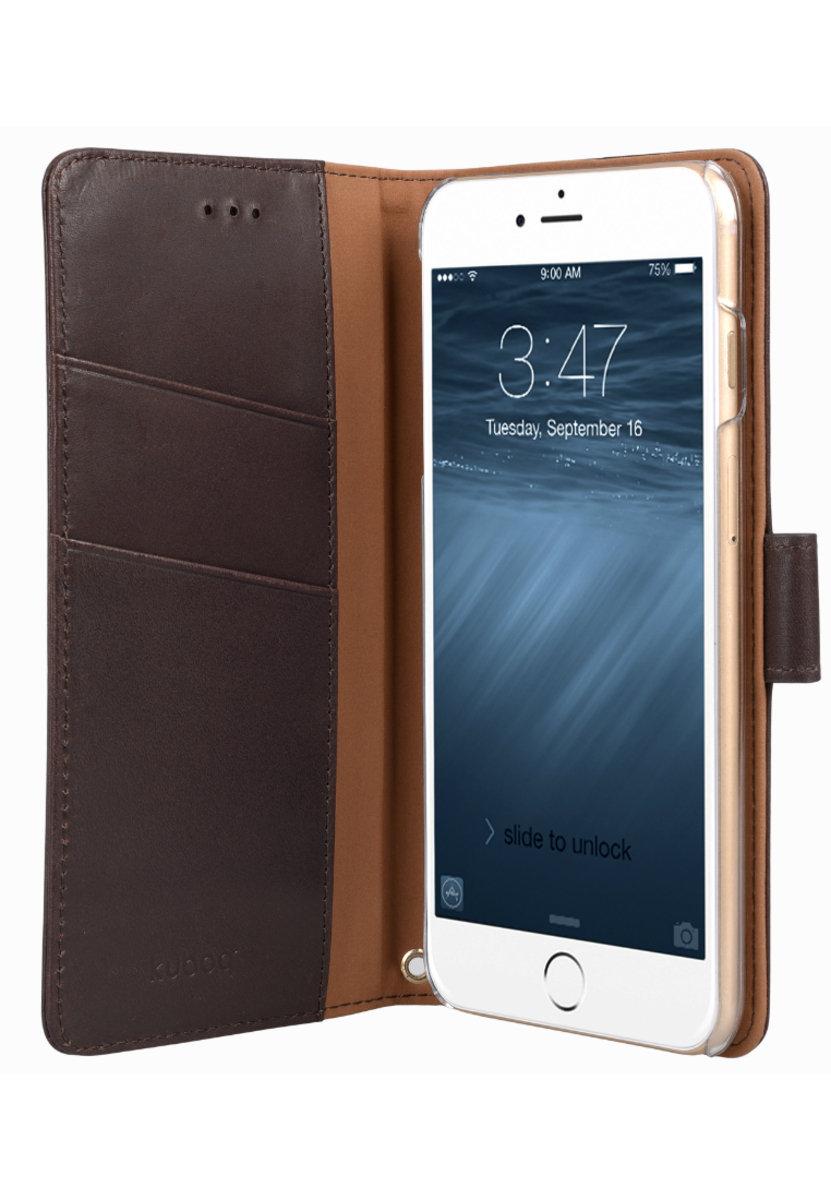 日本Kuboq意大利風格iPhone 6s Plus / 6 Plus手機皮套 (咖啡色)