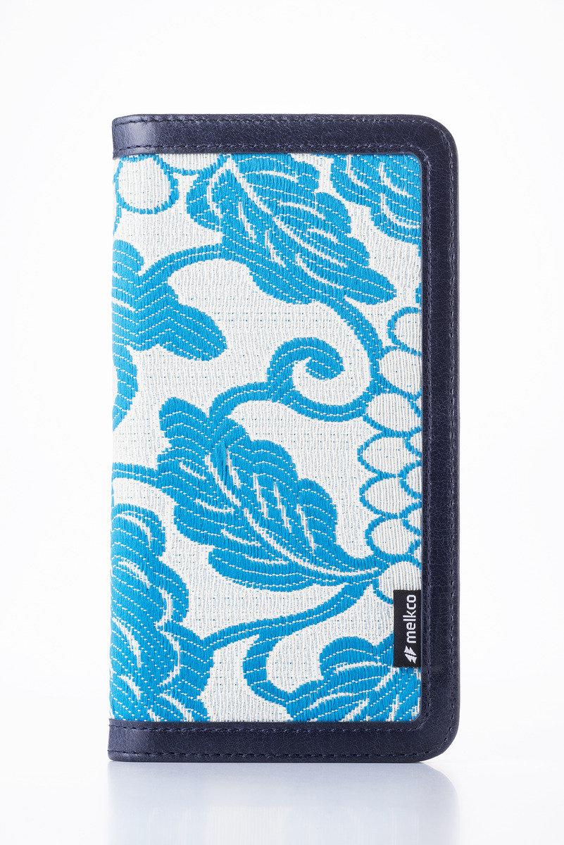 Apple iPhone 6s Plus/6 Plus Prestige Collection Heritage系列高級皮革手機皮套-奧利佛深藍色/藍色提花圖