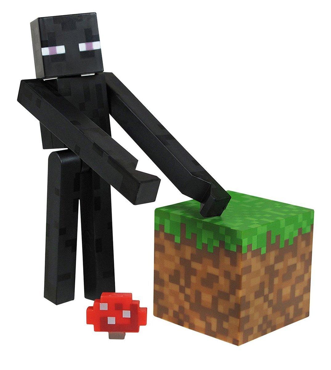 Minecraft Overworld Enderman Action Figure Set
