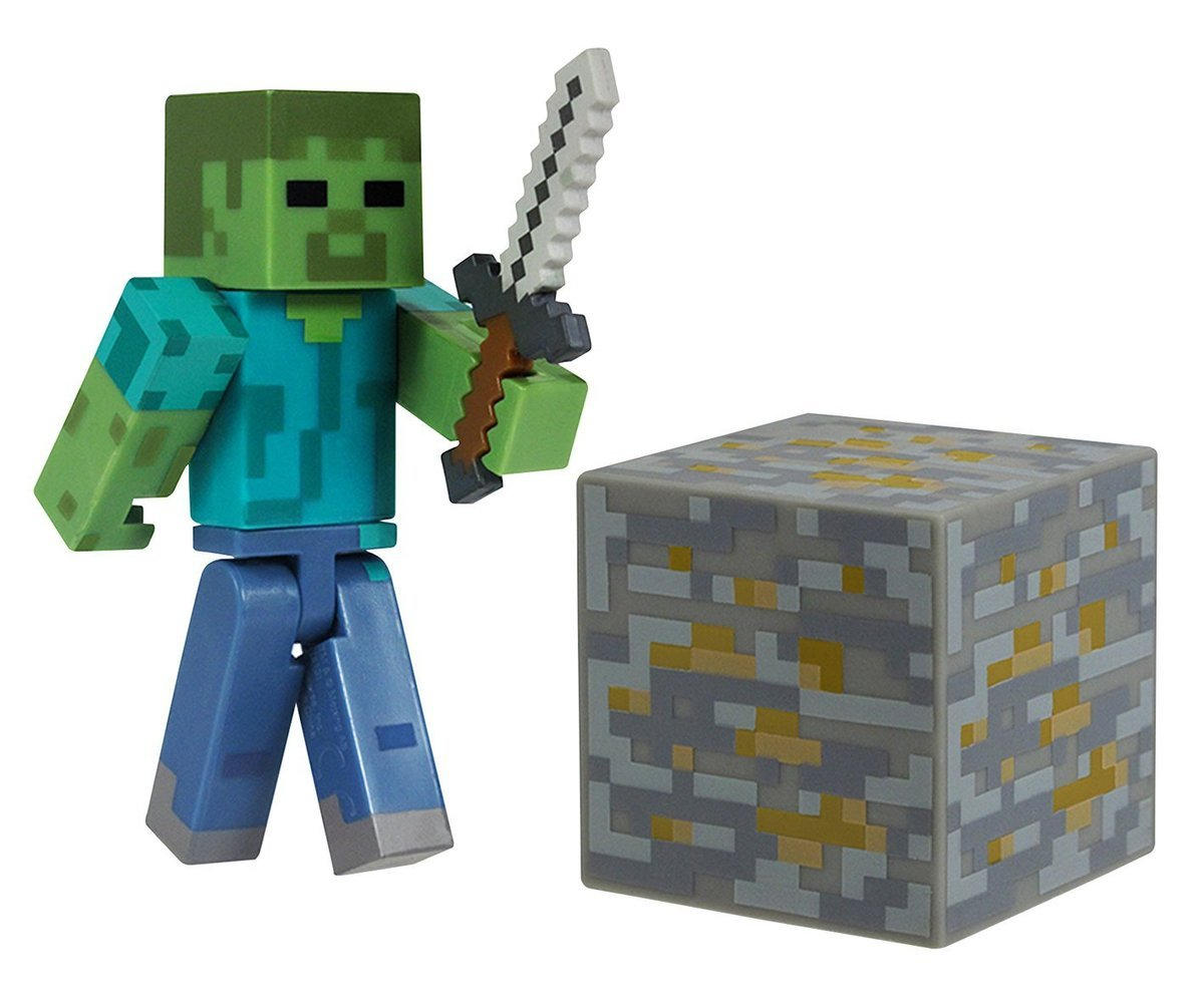 Minecraft Overworld Zombie Action Figure Set