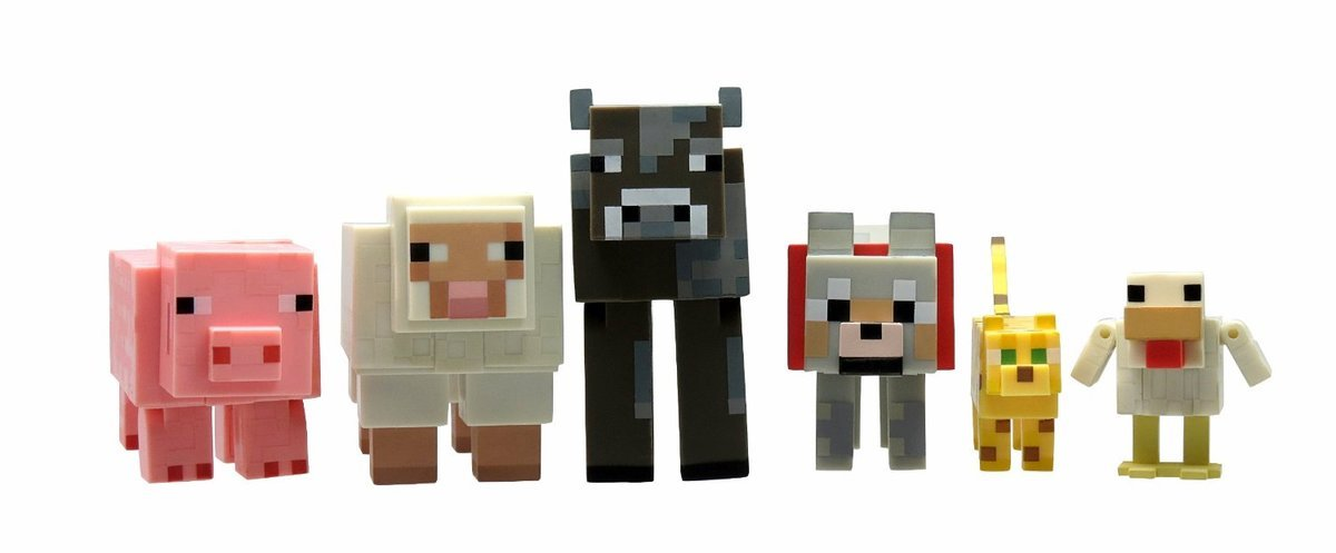 Overworld Animal Mobs set (6 pcs)