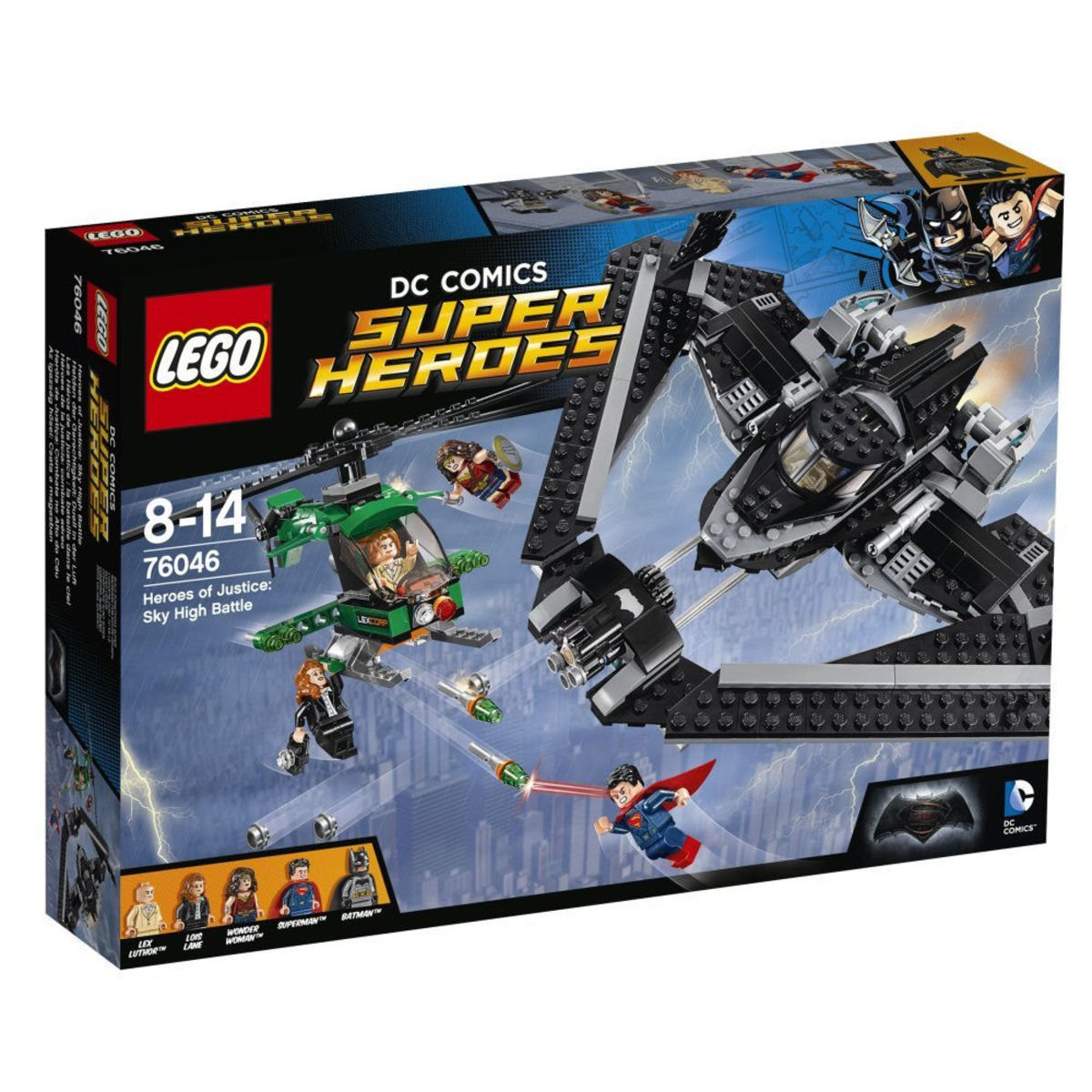 76046 Super Heroes Heroes of Justice: Sky High Battle
