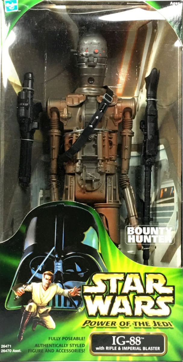 Star Wars Power of the Jedi Action Collection BOUNTY HUNTER IG-88 12in Action Figure