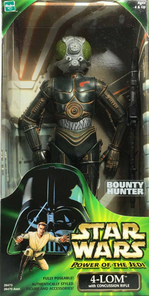 Star Wars Power of the Jedi Action Collection BOUNTY HUNTER 4-LOM 12in Action Figure