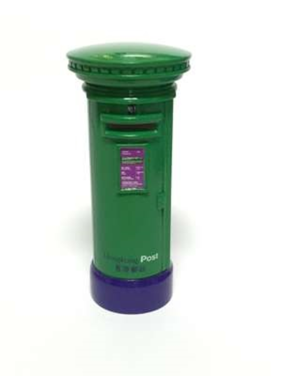 香港合金模型系列 HH023 香港郵政 - 綠郵箱Green Post Boxes
