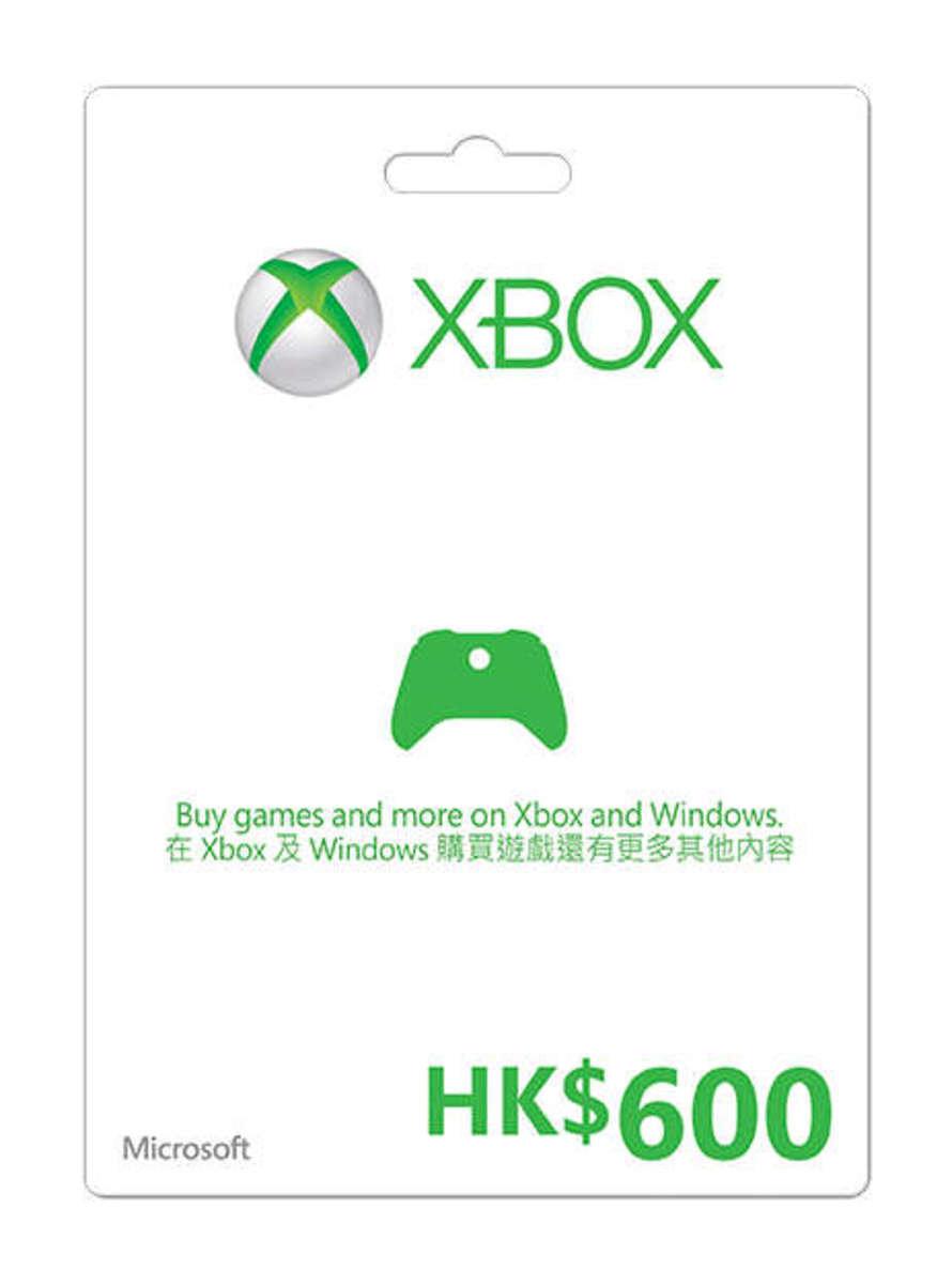Xbox Live $600禮品卡