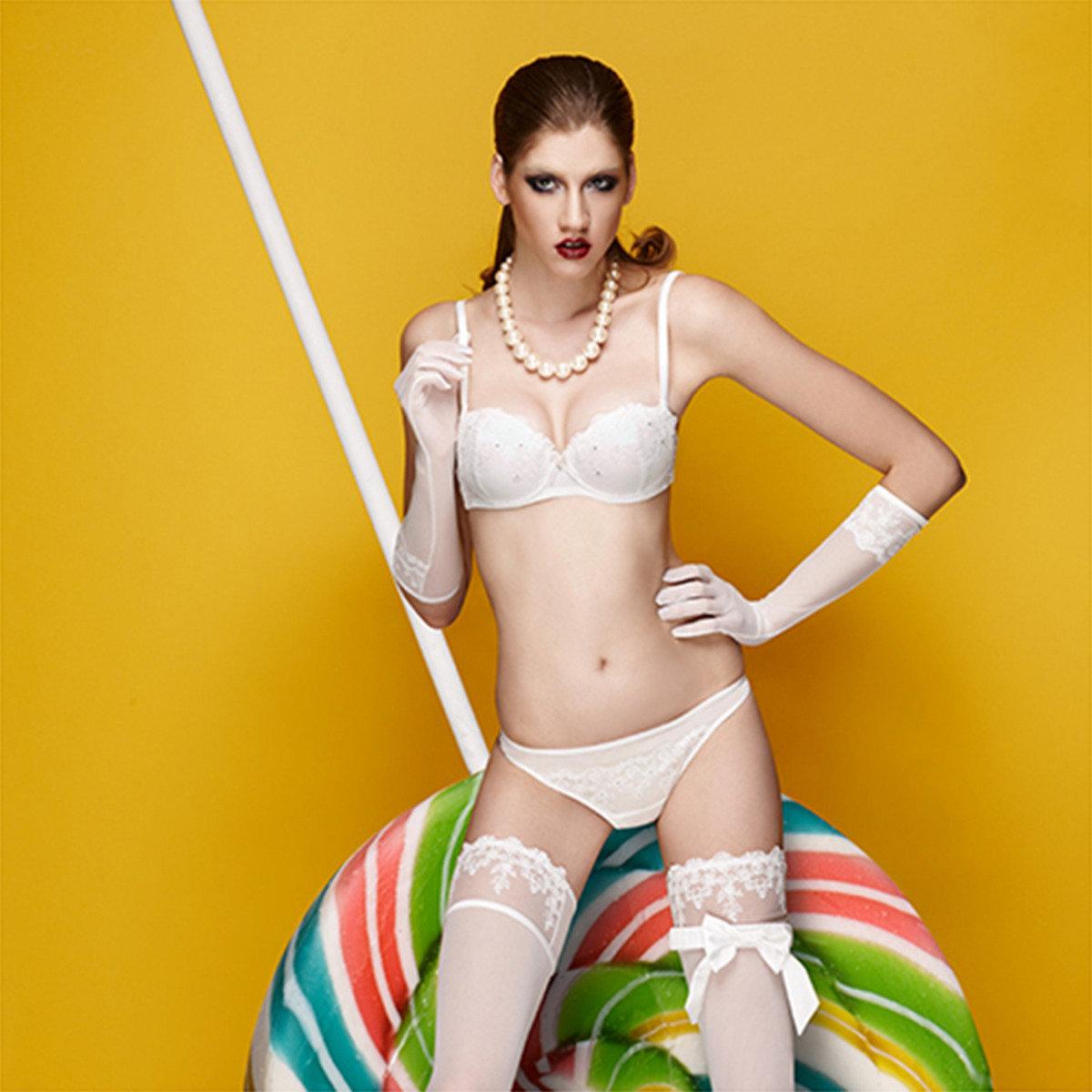 芭蕾夢幻提花三角褲