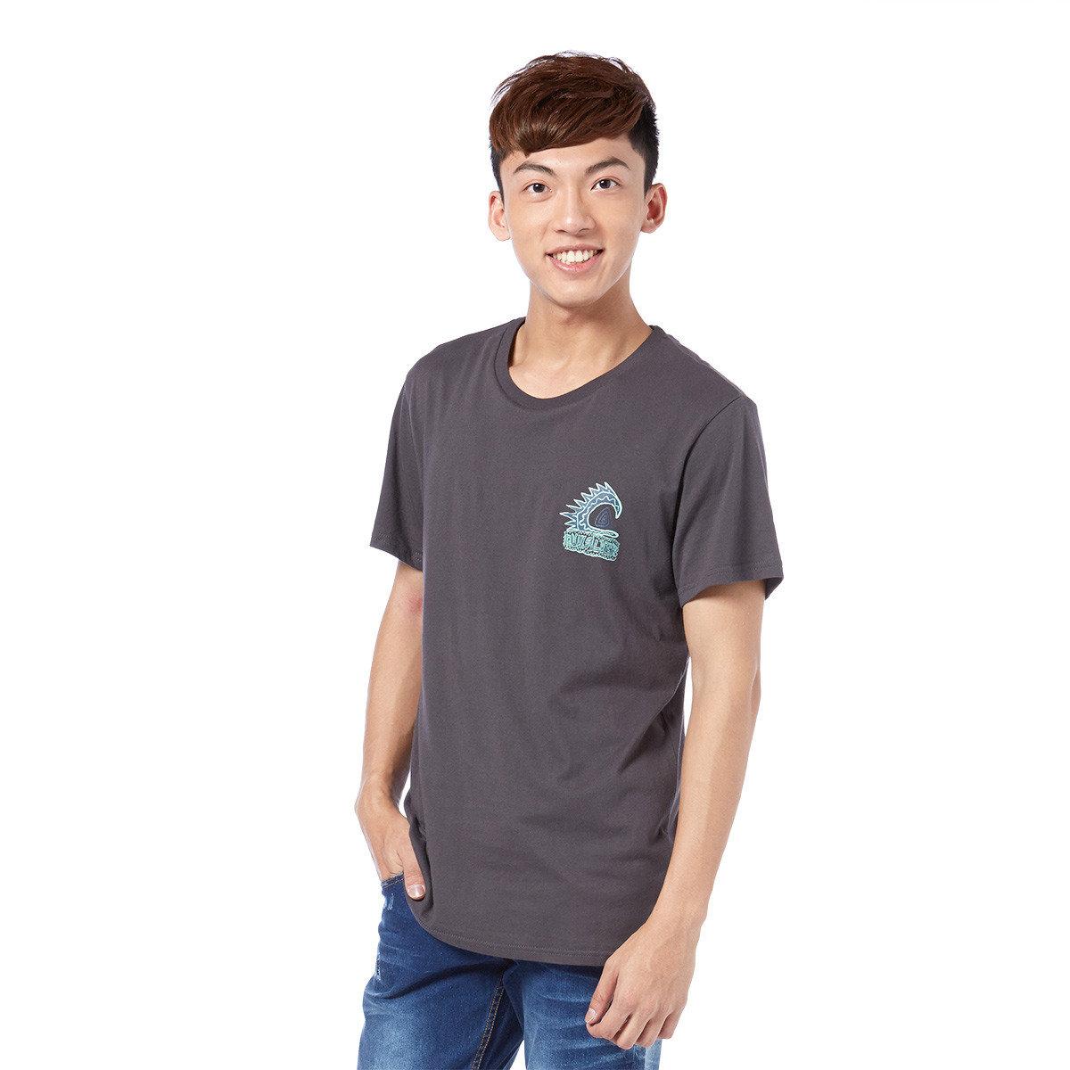 趣怪海浪logo圖案短袖T-shirt