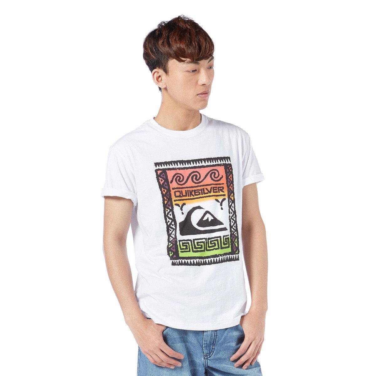 趣怪民族印花短袖T-Shirt