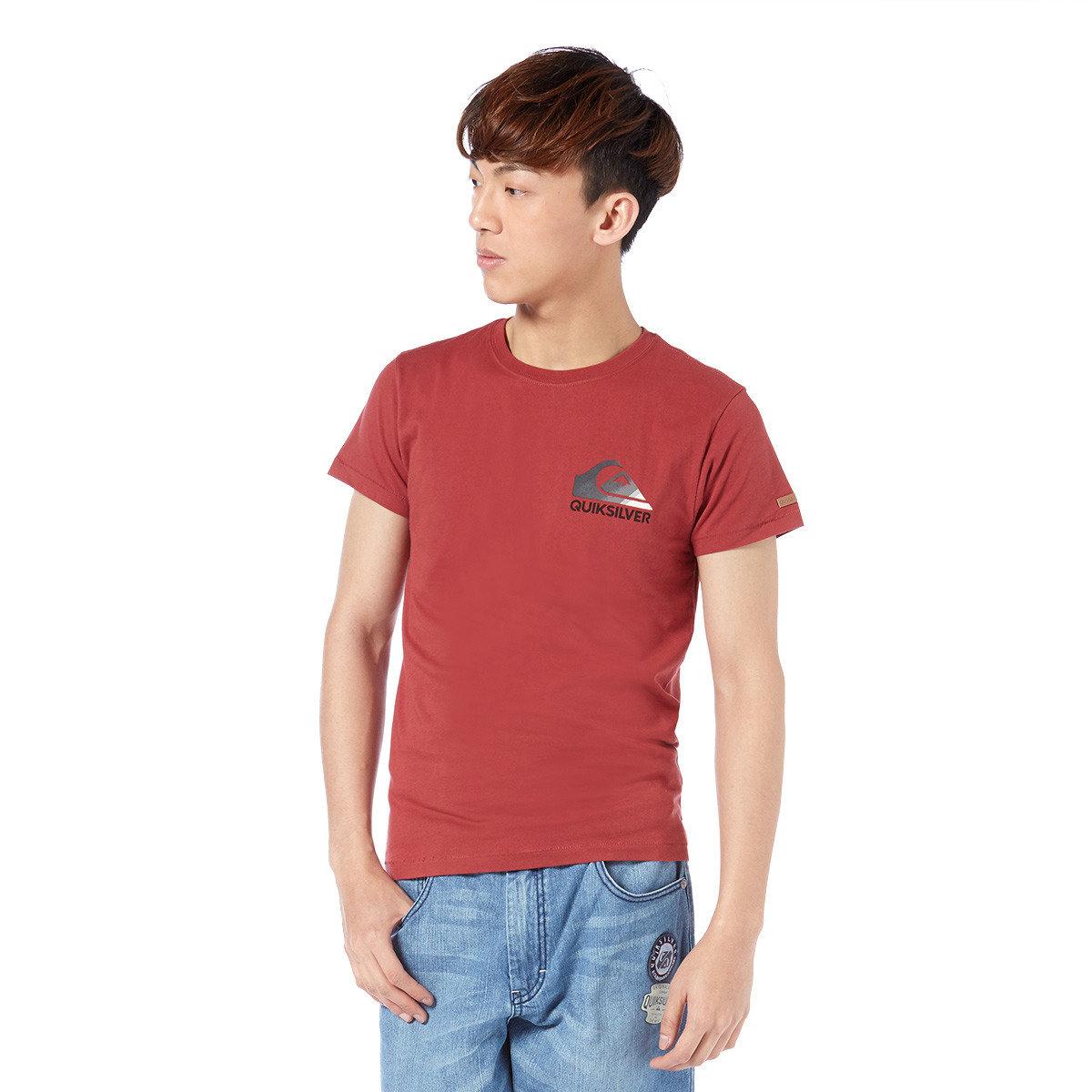 幻彩logo淨色短袖T-Shirt