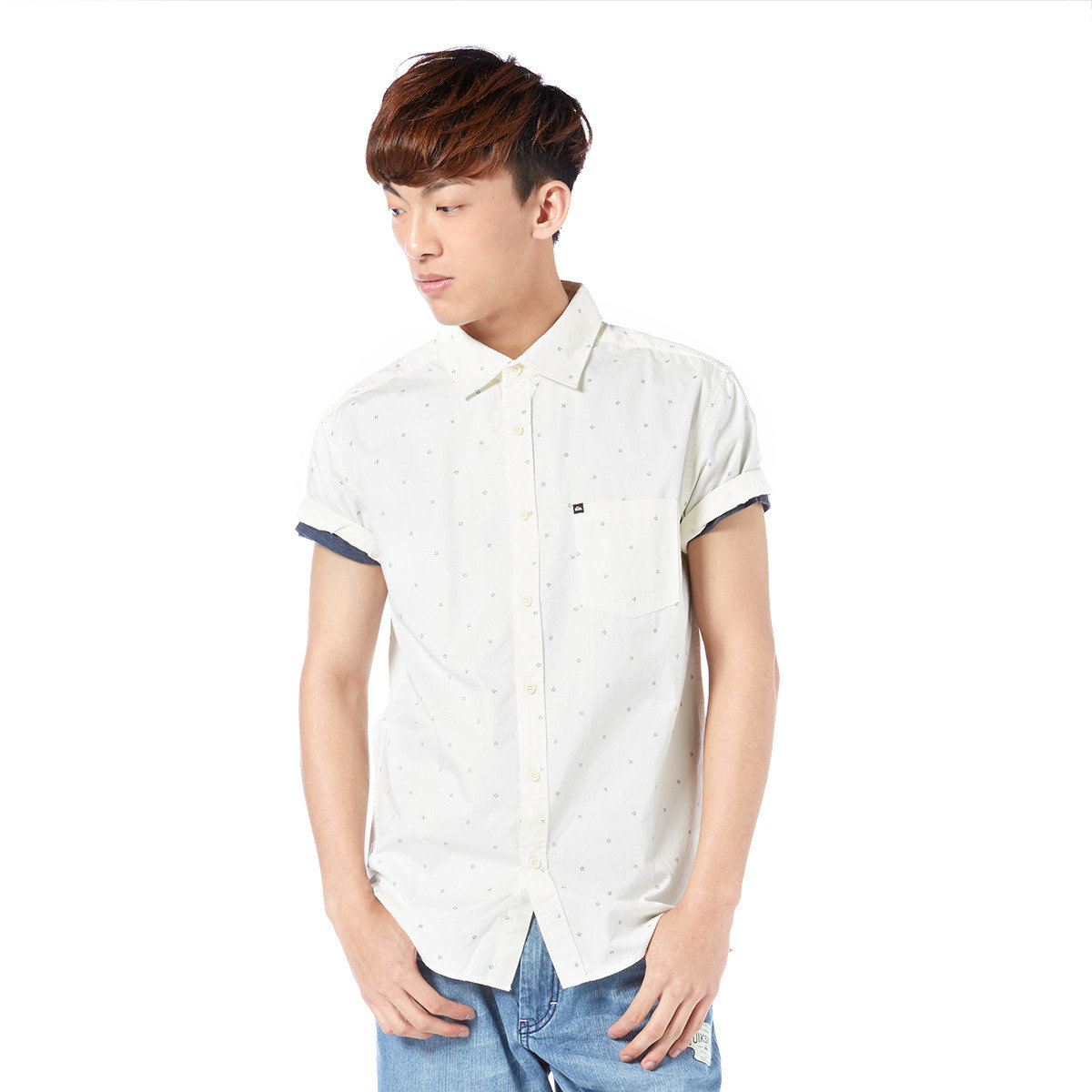 簡約圓點短袖襯衫