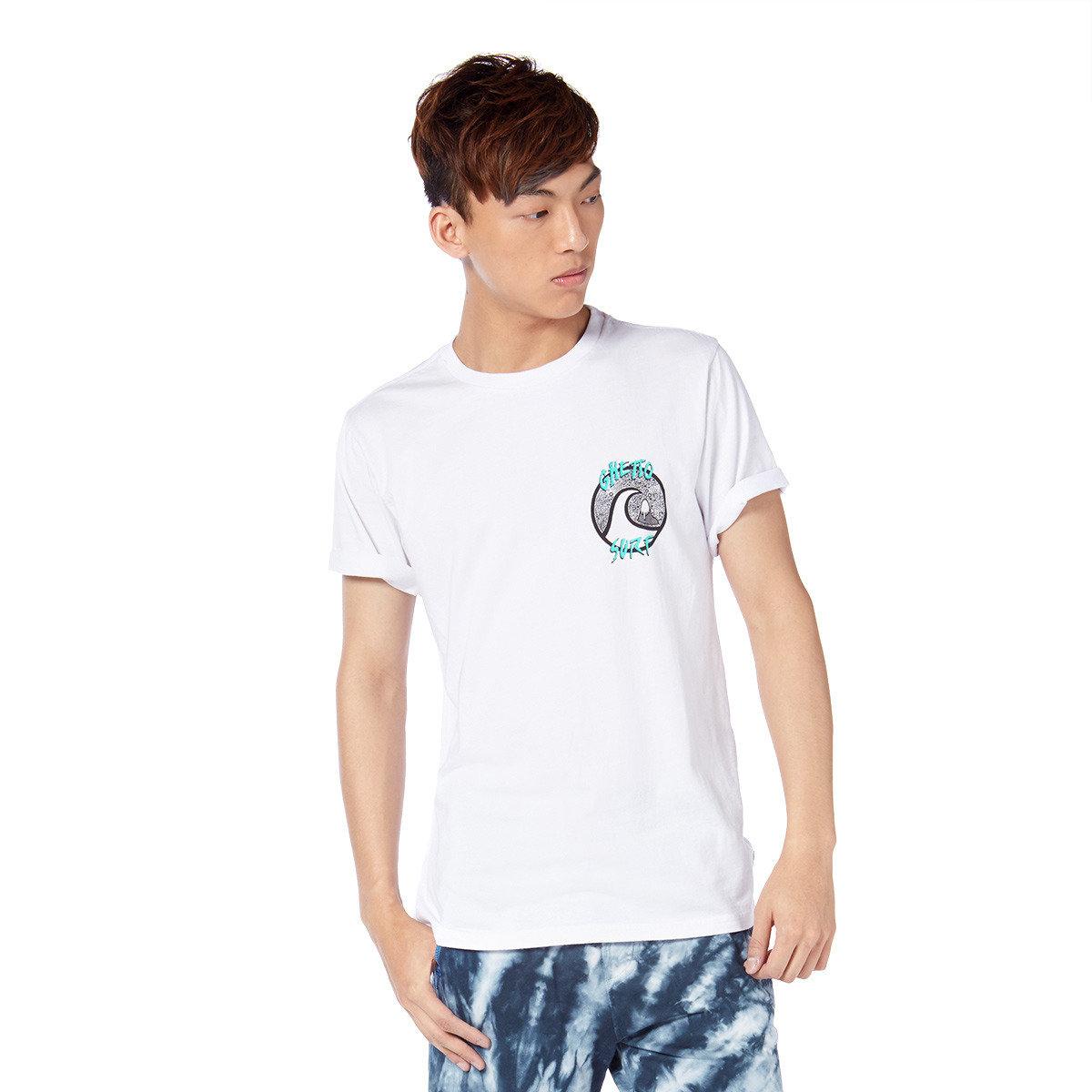 趣怪抽象印花短袖T-shirt