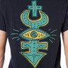 玩味眼睛圖案印花短袖T-shirt
