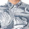 復古抽象繪畫印花短袖襯衫
