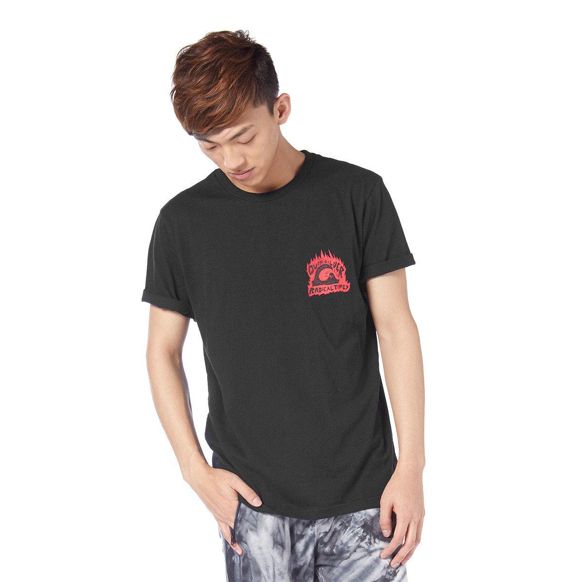 趣怪火箭女人印花短袖T-shirt