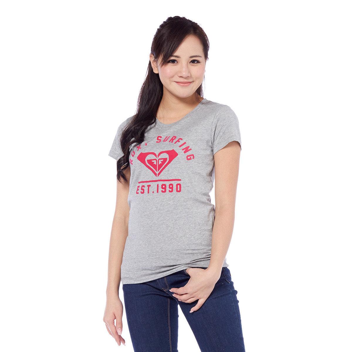 植絨Roxy Logo休閒短袖T恤