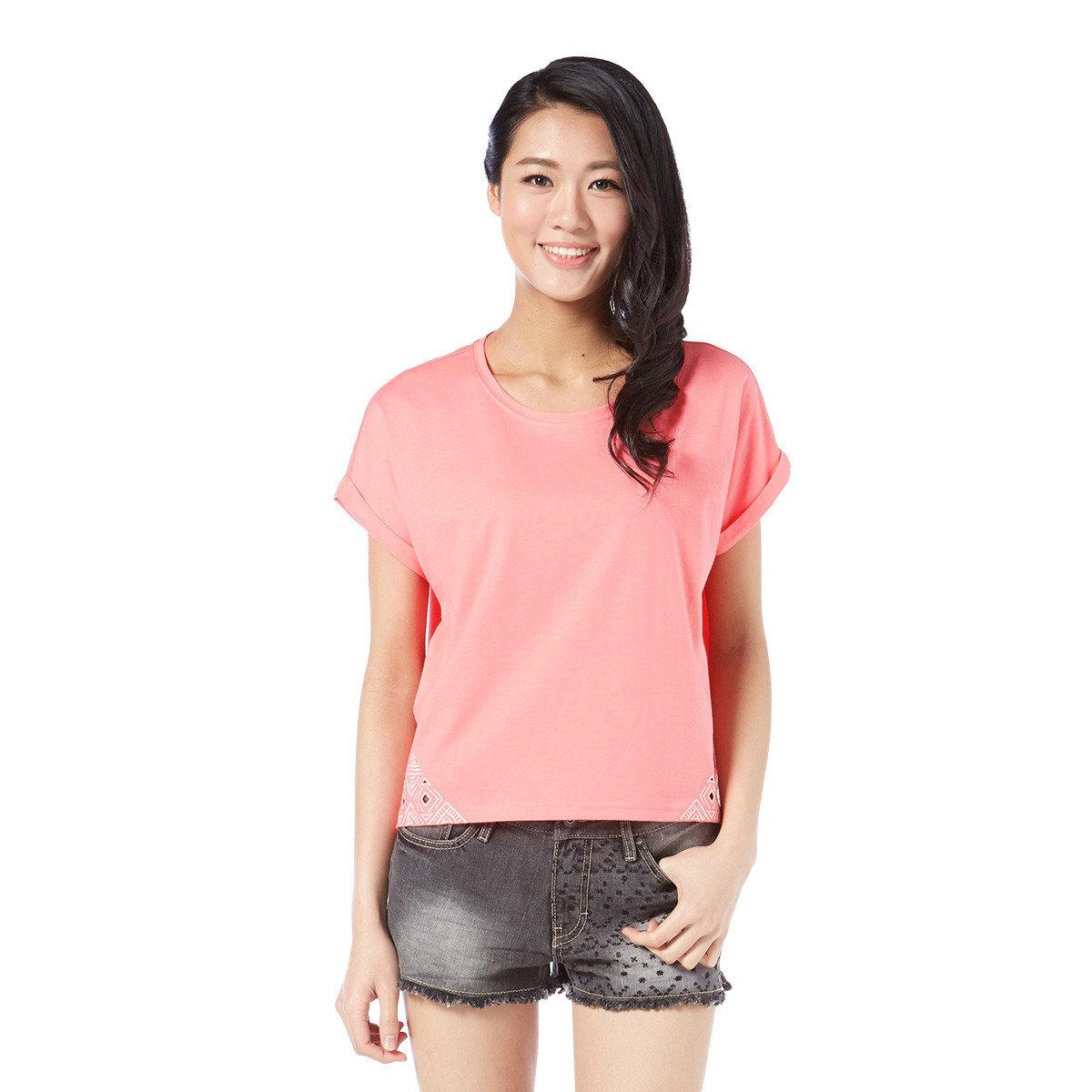 簡約印花圓領短袖T-Shirt