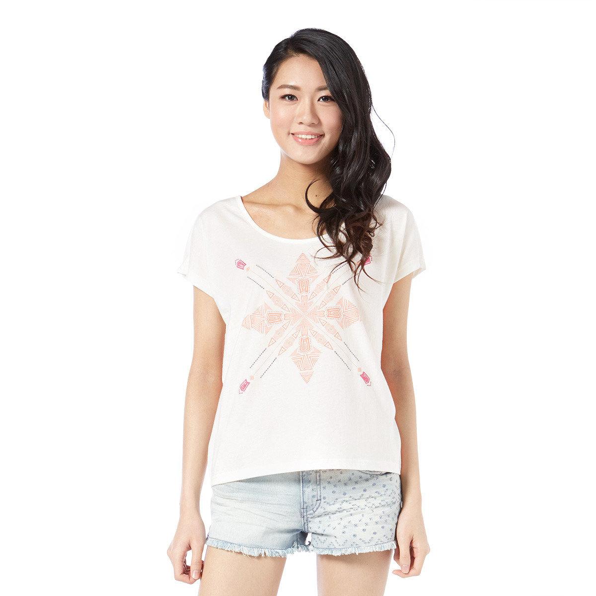 民族圖案印花短袖T-Shirt