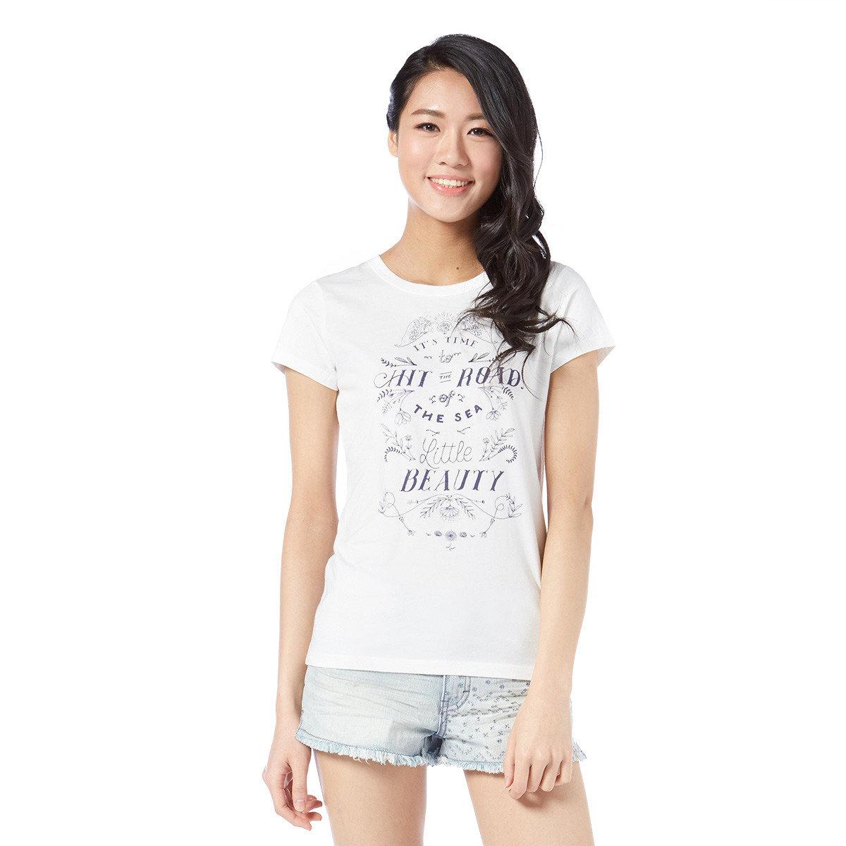 復古印花短袖T-Shirt