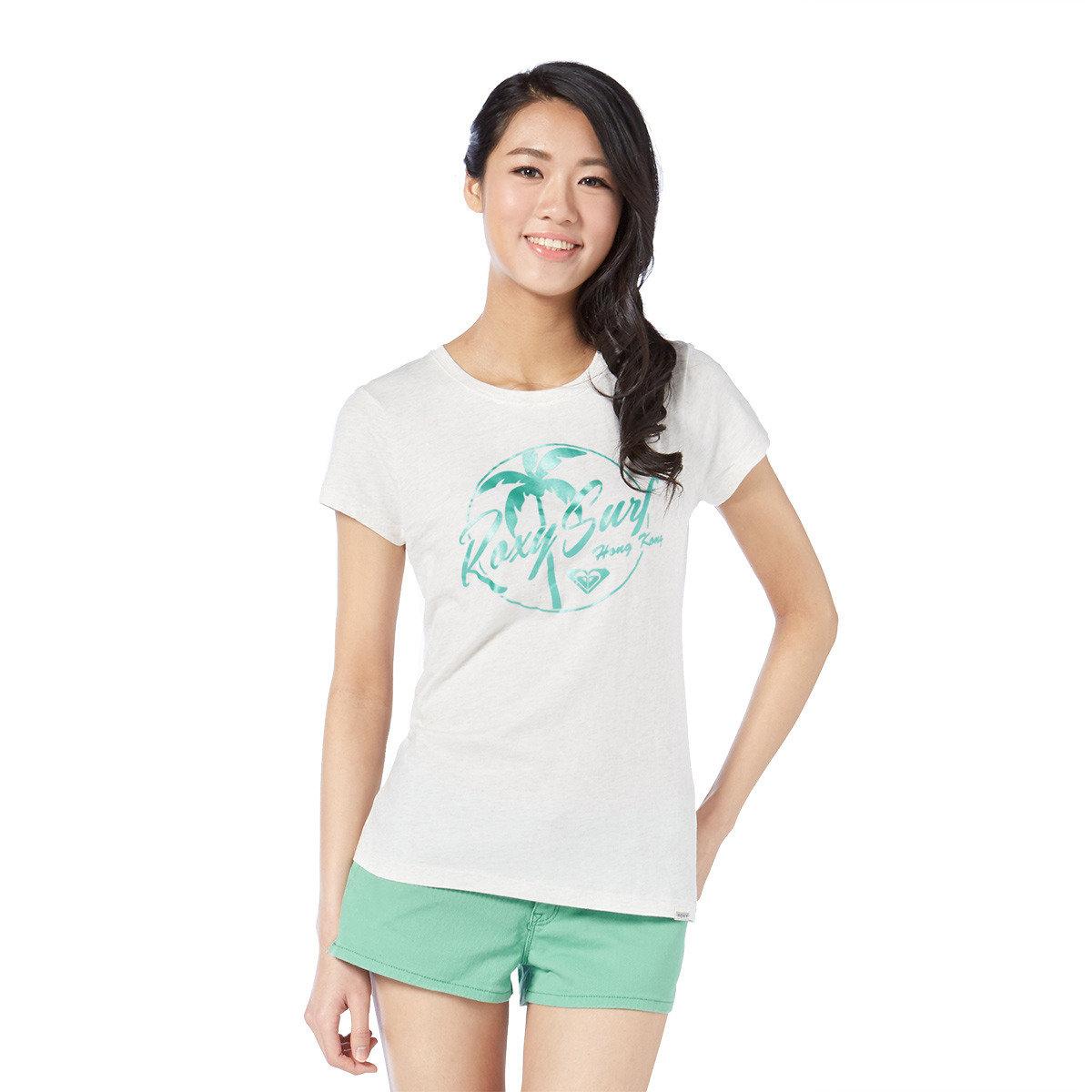 椰樹圖案印花短袖T-Shirt