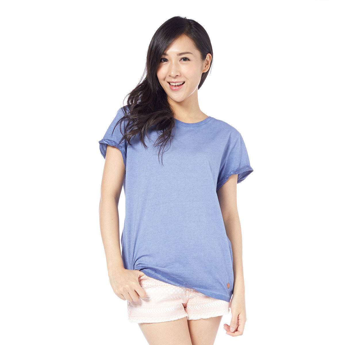 噴染復古修身短袖T恤