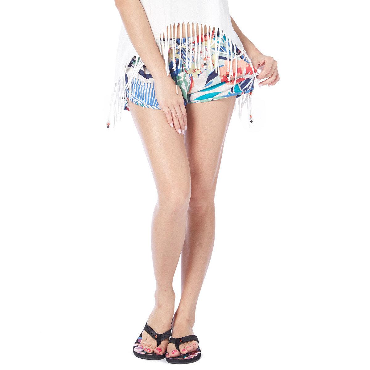 復古時尚熱帶風圖案短褲