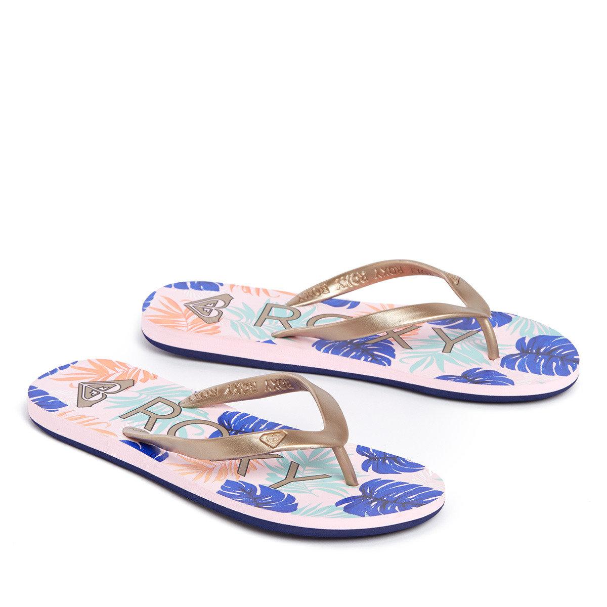 熱帶植物印花拖鞋