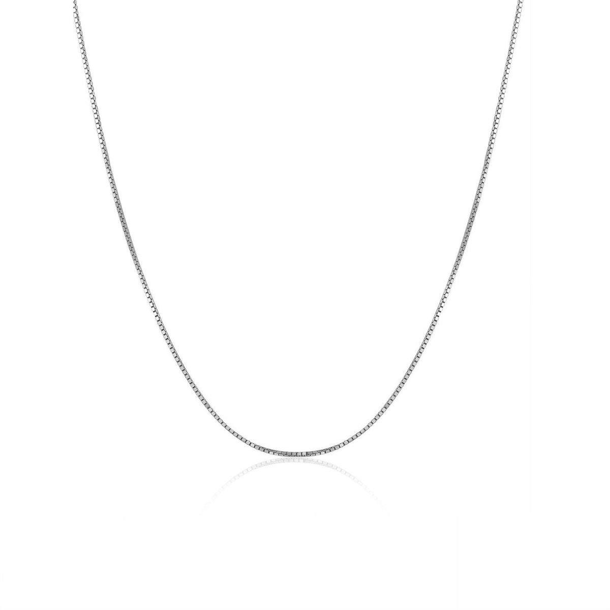 925純銀盒子項鍊 (16吋)