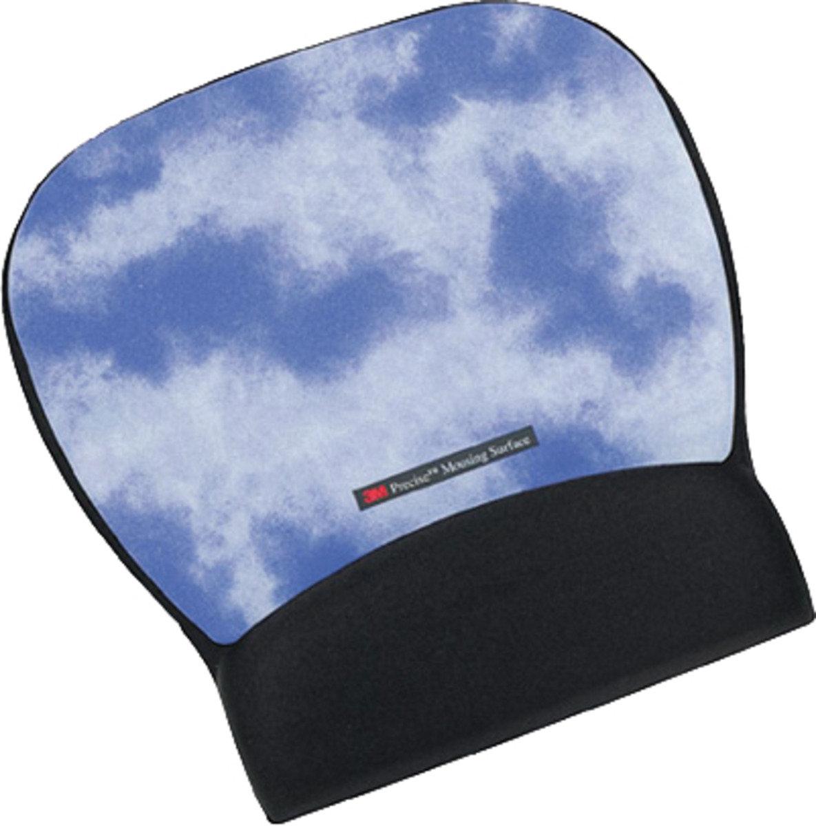 3M™ 穿梭光學滑鼠墊及凝膠腕墊雲彩(MW311CL)