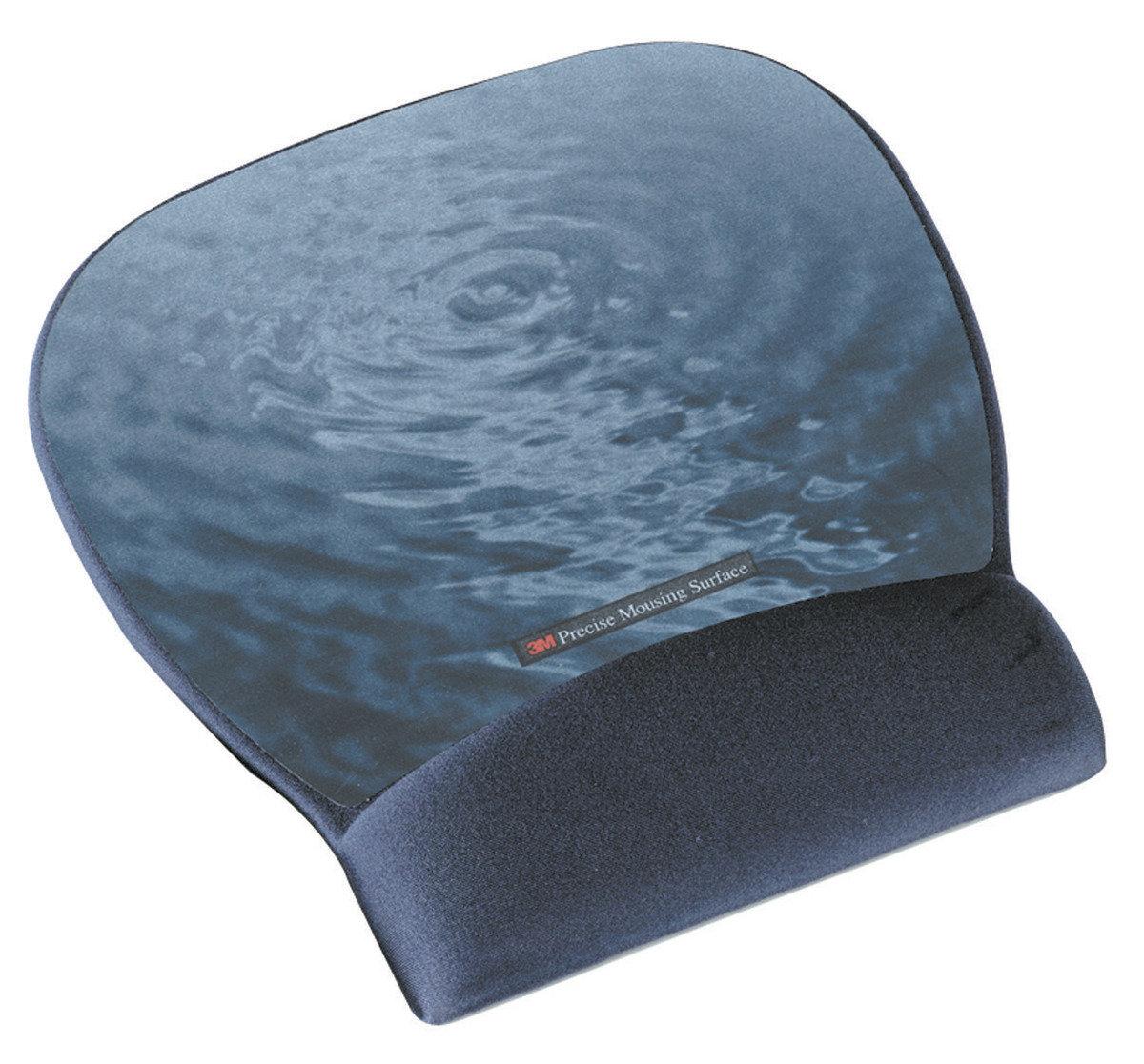 3M™ 穿梭光學滑鼠墊及凝膠腕墊水紋(MW311BE)