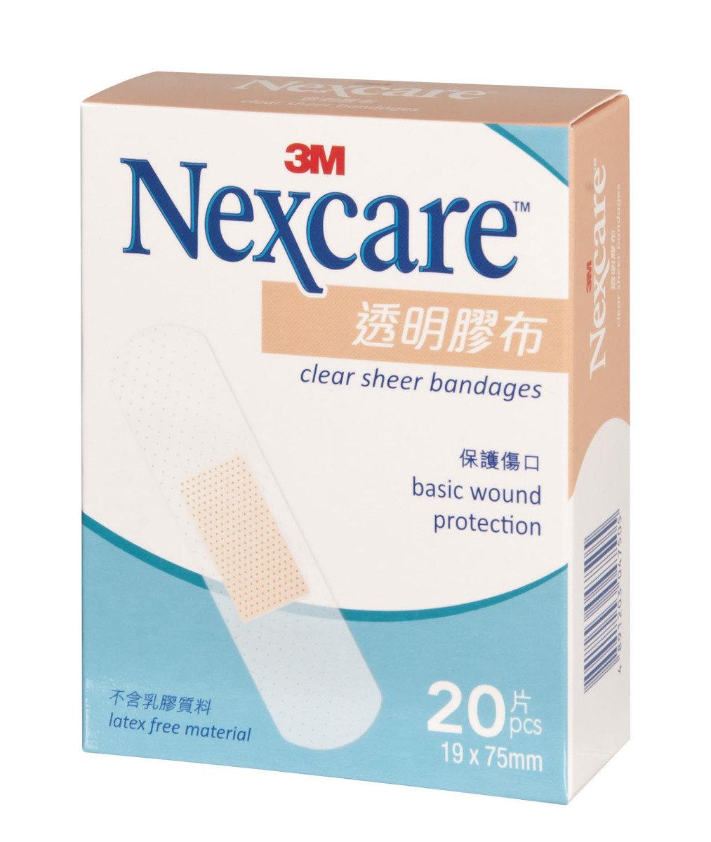 Nexcare™ 透明膠布20片19 x 75毫米(4891203047505)