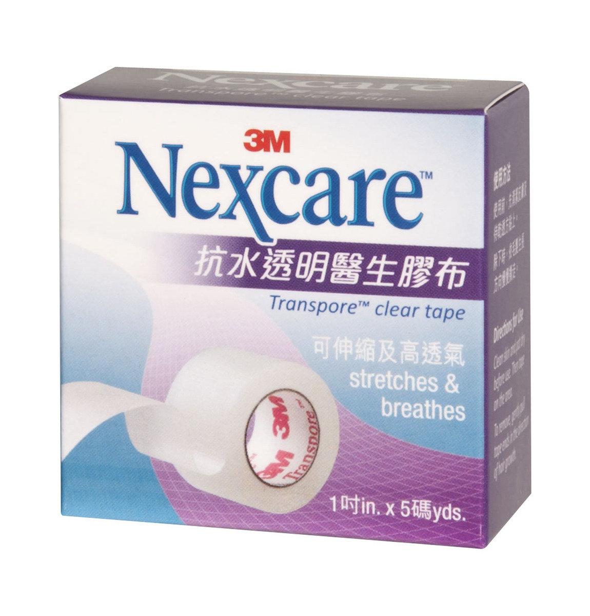 """Nexcare™抗水透明醫生膠布 1""""x5碼(4891203101313)"""