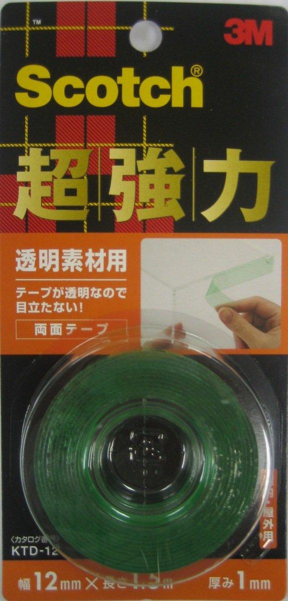 超強力雙面膠貼 - 透明材料用(KTD-12)