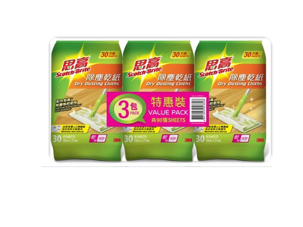 除塵乾紙30 片(3包裝)(833HKx3)