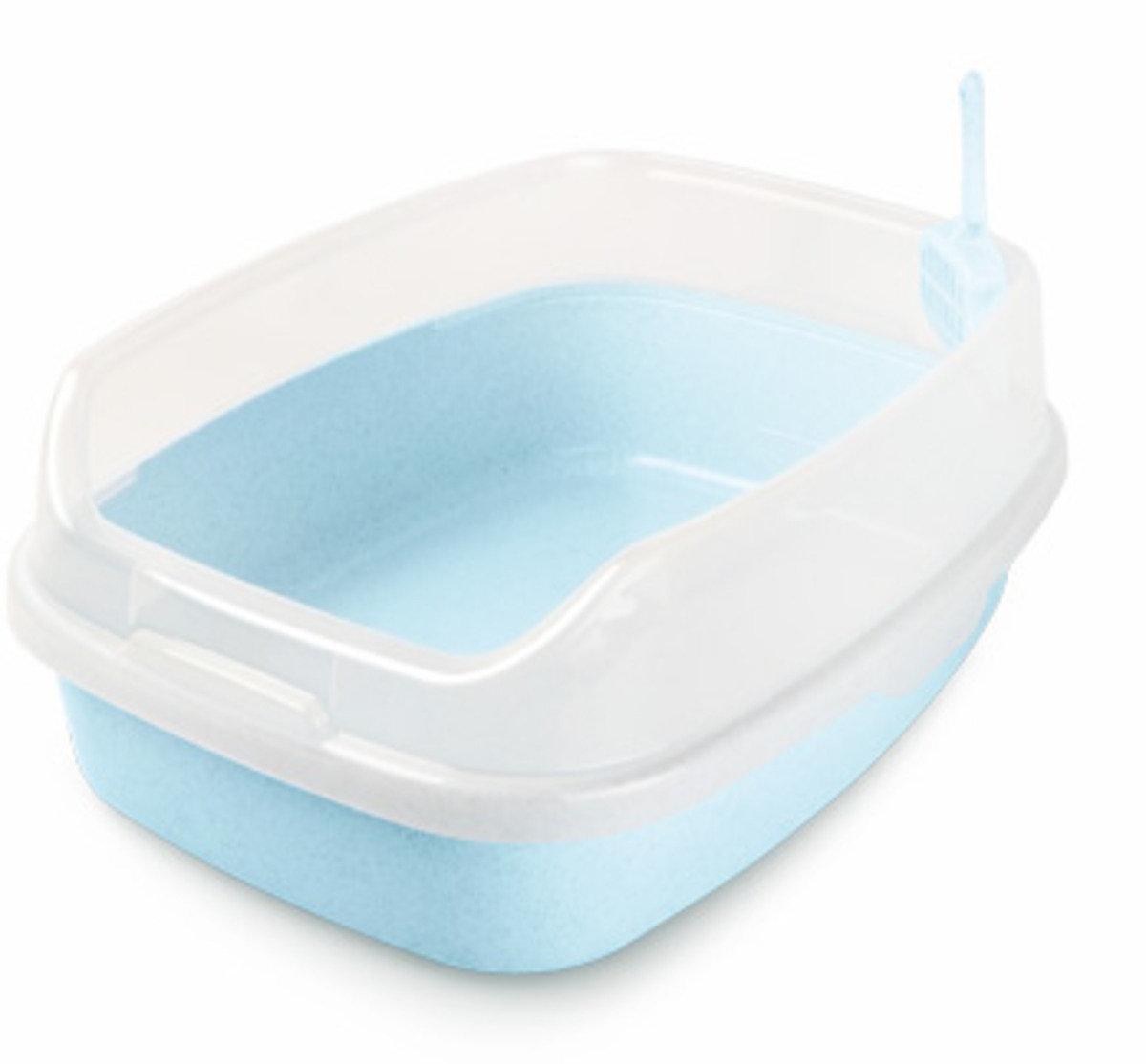 特大豪華無蓋貓廁所(藍色)