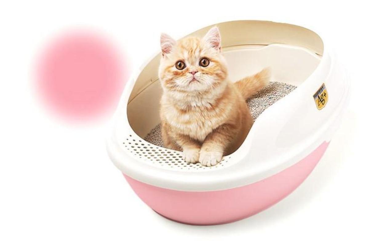 抗菌貓廁所 (粉紅)