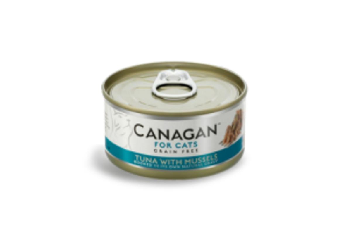 無穀物吞拿魚塊伴青口貓罐頭 75g (12罐裝)