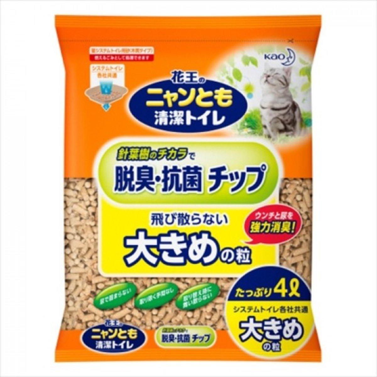 日本抗菌除臭滲透式木貓砂 4L (直徑6MM) 孖裝