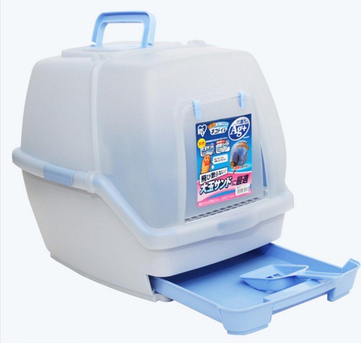 雙層防臭貓廁所(藍色)