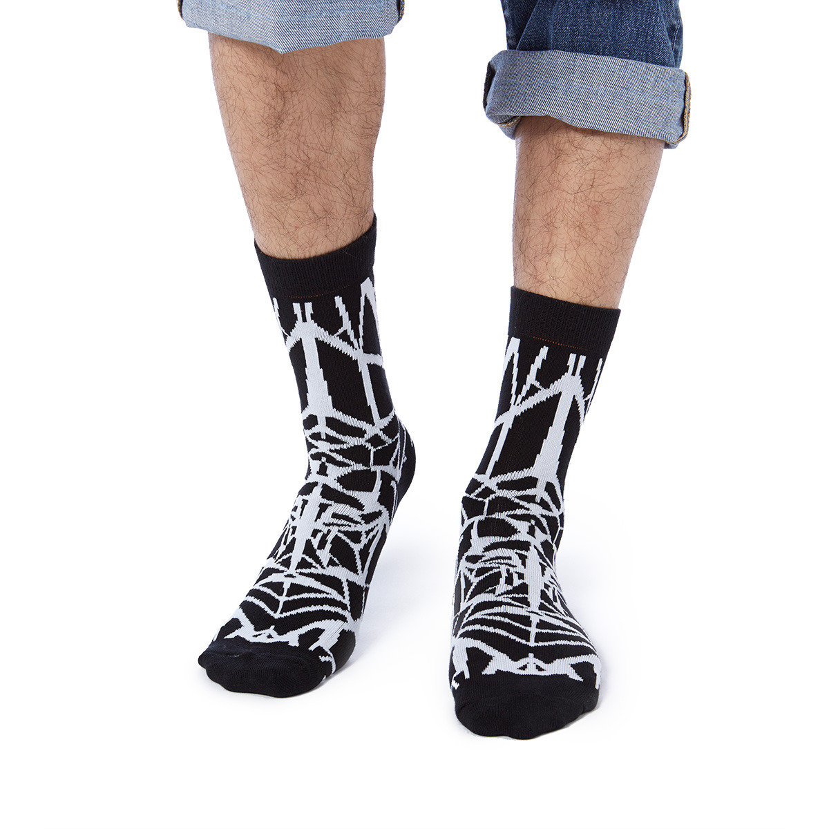Honey x 112 mountainyam shattered glass crew socks